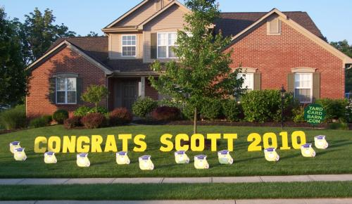congrats name year lawn letters 12 graduation smileys